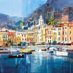 Riviera Dreaming by Tom Butler - Paper on Board sized 16x16 inches. Available from Whitewall Galleries